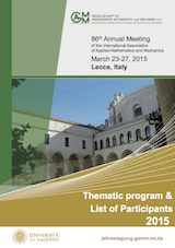 GAMM2015 Thematic program and List of Participants
