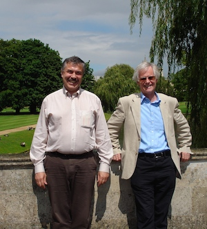 Keith Moffatt with Konrad Bajer in Cambridge, July 2007