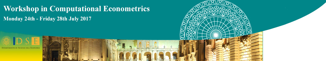 Workshop in Computational Econometrics from Monday 24th July 2017 to Friday 28th July 2017